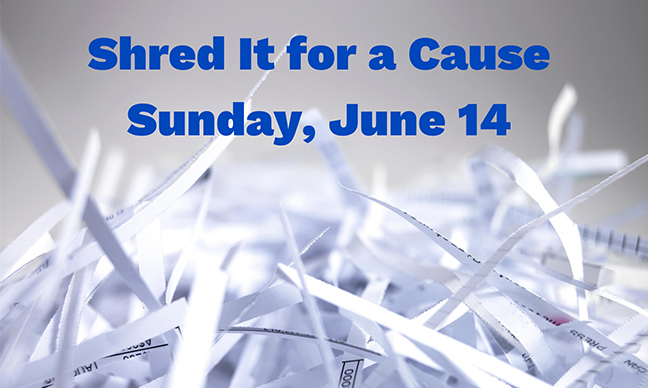 Shred It Event this Sunday, June 14th!