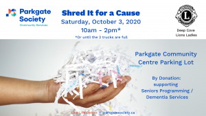 Shred It for a Cause Fundrasier
