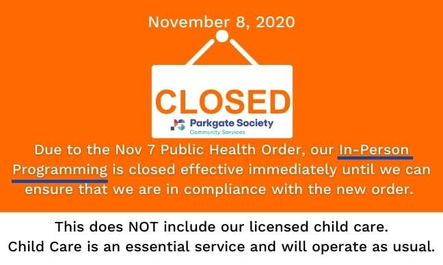 Parkgate Society In-Person Programming Closed