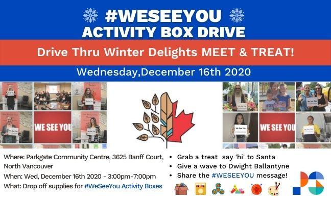 #WeSeeYou Activity Box Drive