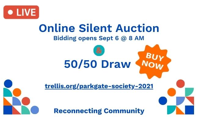50/50 Tickets on Sale Now & Silent Auction Site is Live!